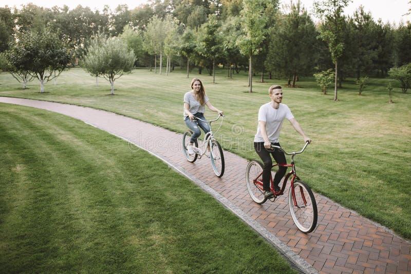 Par på semester fotografering för bildbyråer