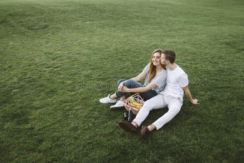 Par på semester arkivbild