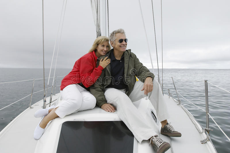 Par på yachten arkivbild