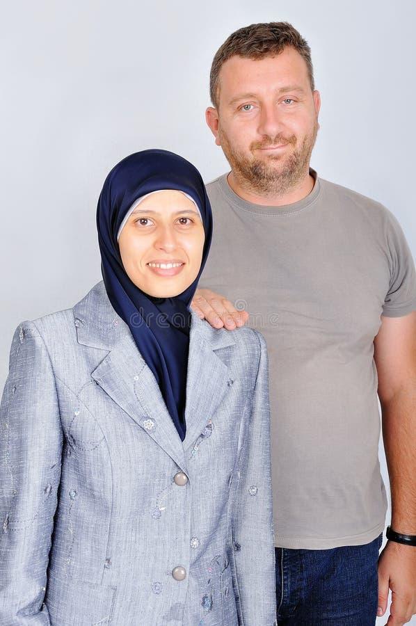par potomstwa odosobneni muzułmańscy trwanie pracowniani obraz stock