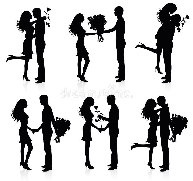 par róże ilustracji