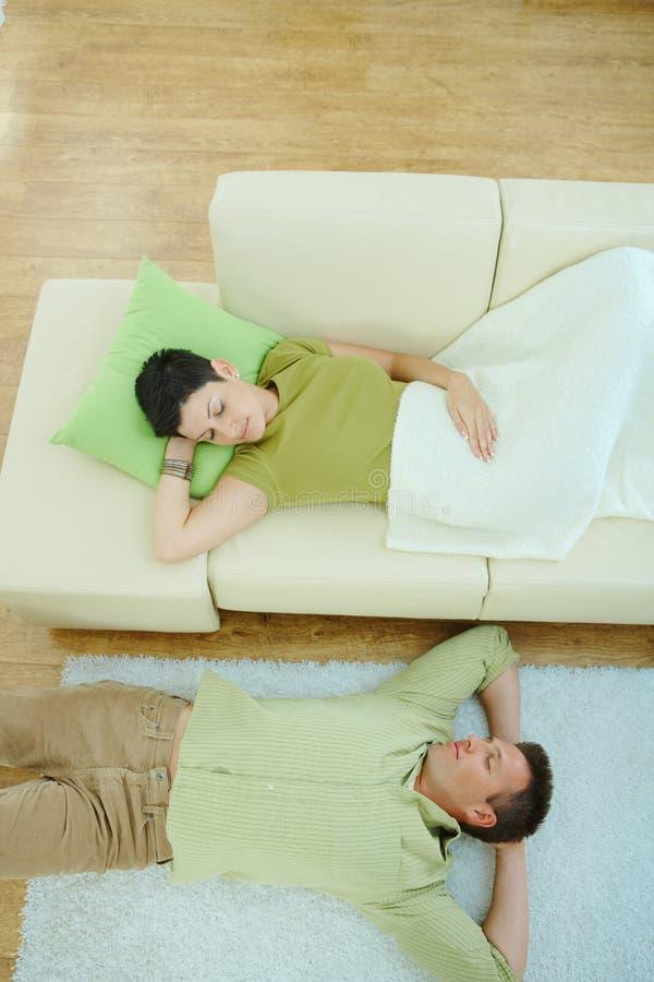 par returnerar att sova arkivfoton