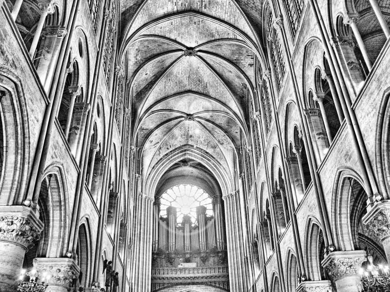 Par?s, Francia 11/04/2007 Catedral de Notre Dame imagen de archivo