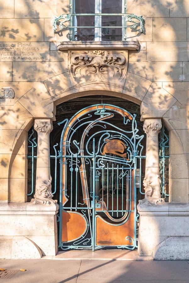 Par?s, puerta hermosa fotografía de archivo libre de regalías