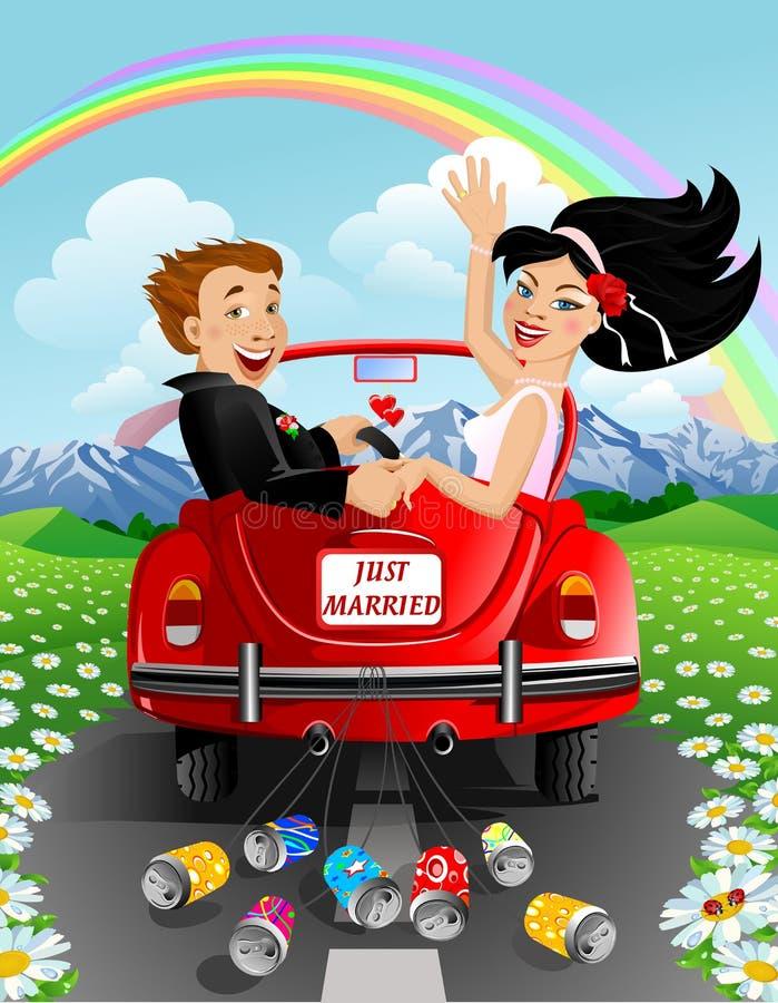par som att gifta sig bara royaltyfri illustrationer