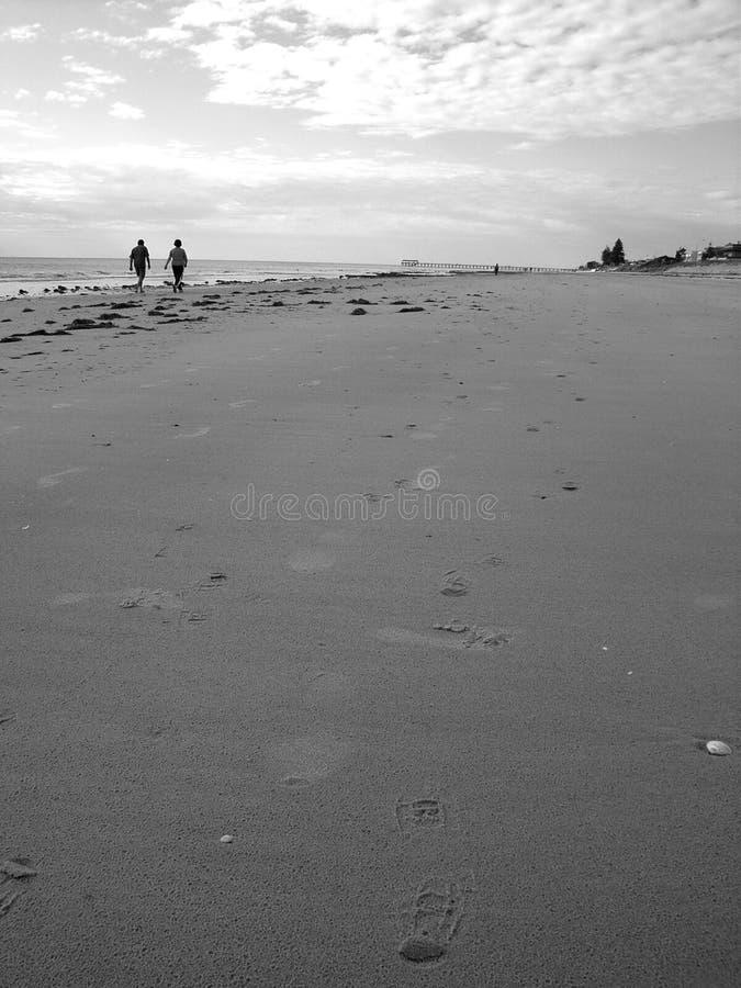 Download Par som går på strand fotografering för bildbyråer. Bild av öppet - 3548471
