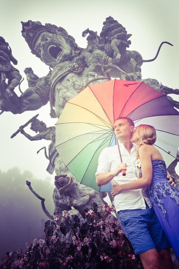 Par som reser till Asien arkivbilder