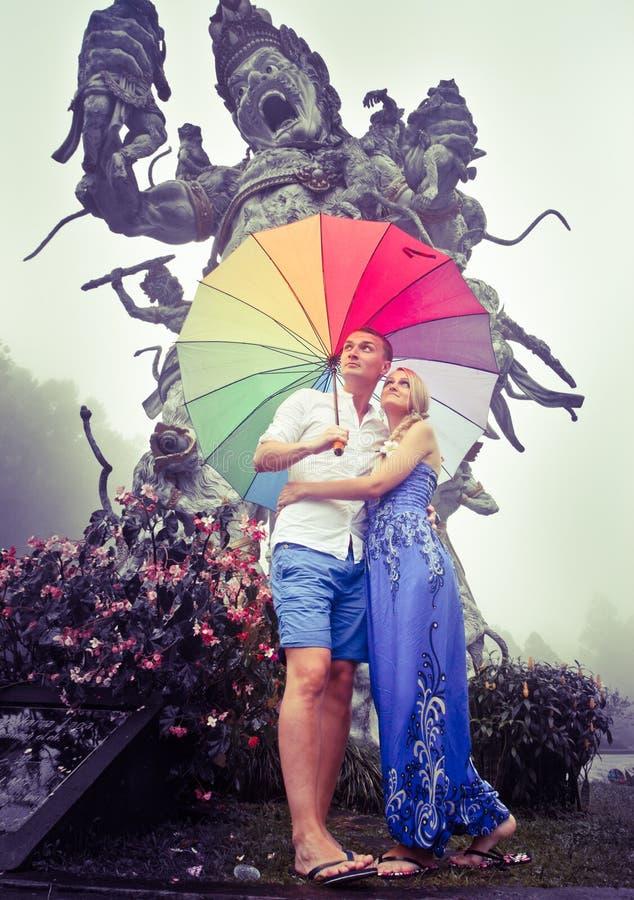 Par som reser till Asien royaltyfri bild