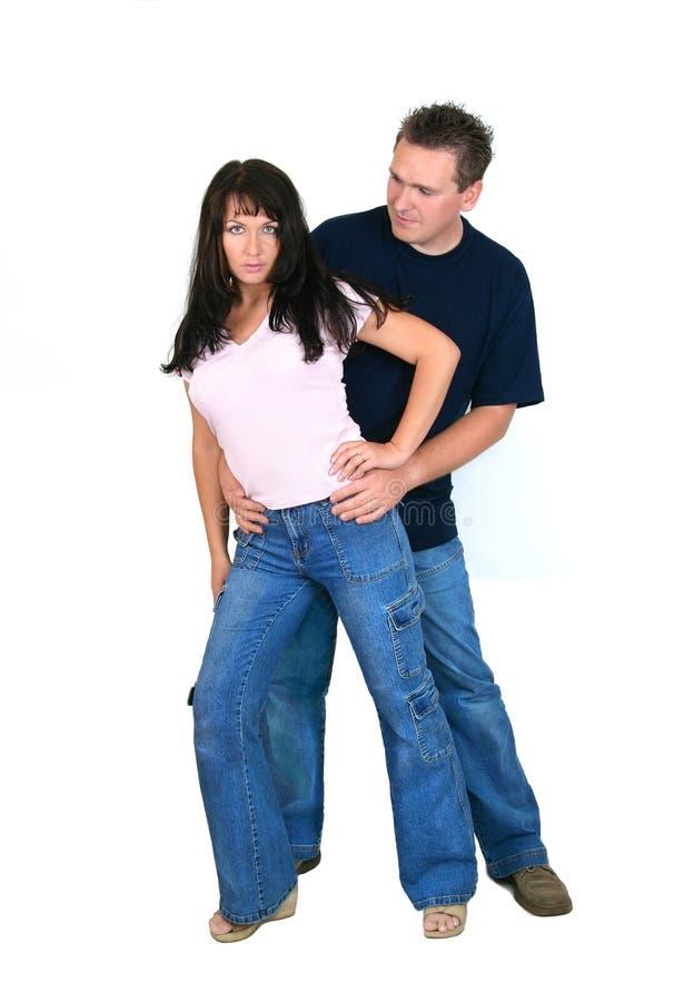 par som tillsammans plattforer arkivbild