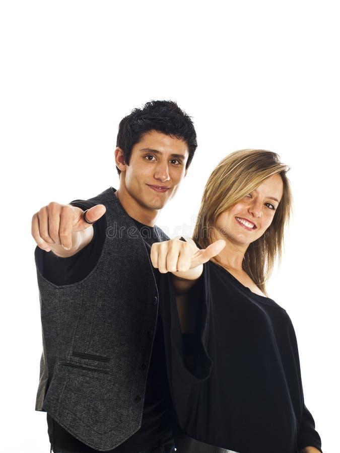 par som uttrycker positivitybarn royaltyfri foto