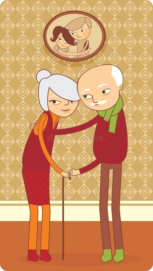 par starsze osoby royalty ilustracja