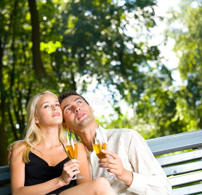 par szampana young obraz stock