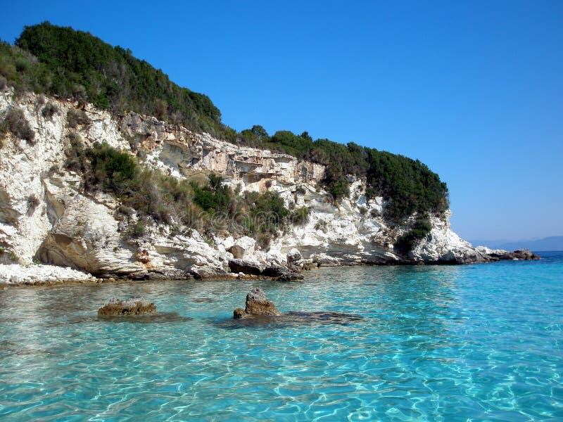 Paraíso - Anti-Paxos, Greece fotografia de stock
