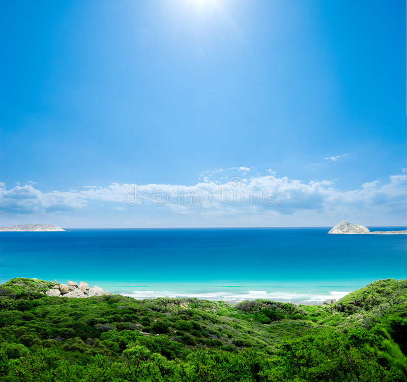 Paraíso australiano de la playa fotografía de archivo