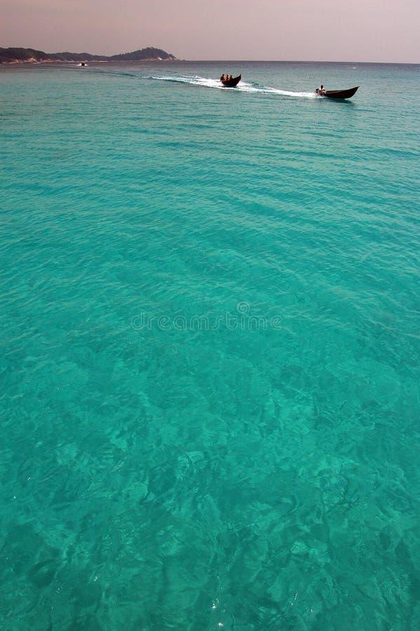Paraíso azul da lagoa foto de stock royalty free