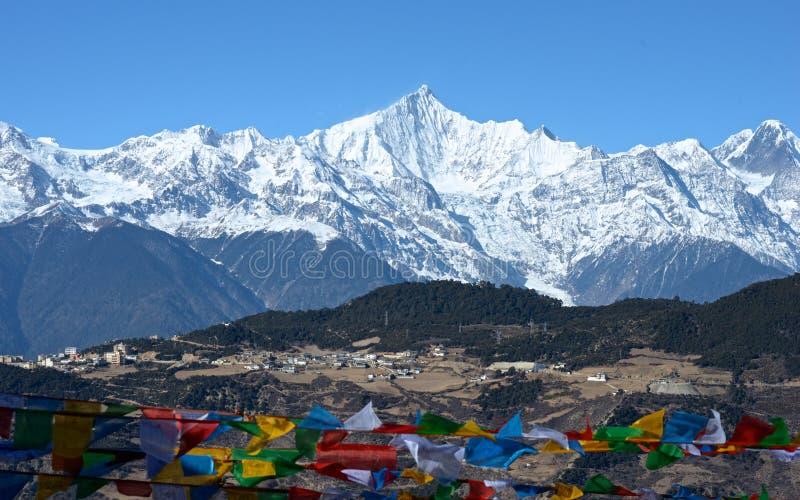 Paraíso da montanha da mostra de Meili foto de stock