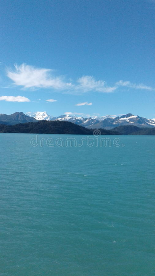 Paraíso da natureza de Alaska foto de stock royalty free