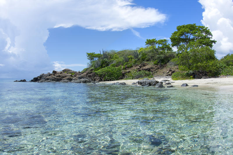 Paraíso das caraíbas tropical da praia imagem de stock royalty free