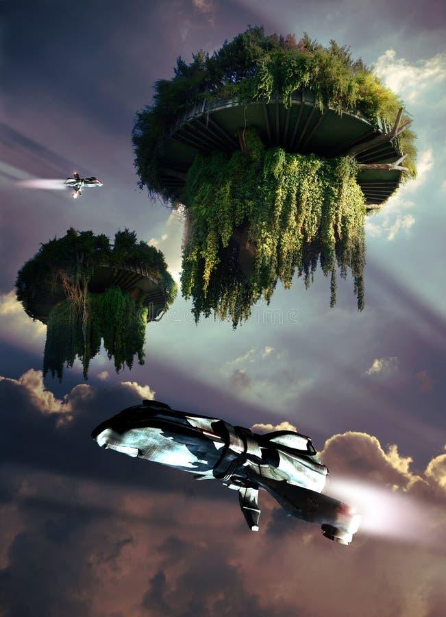 Paraíso de flutuação ilustração royalty free