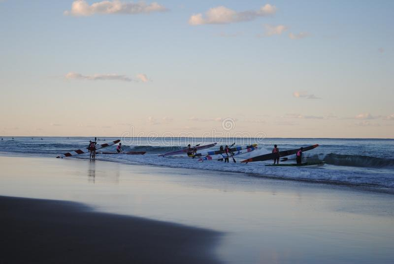 Paraíso de la persona que practica surf en Australia foto de archivo libre de regalías