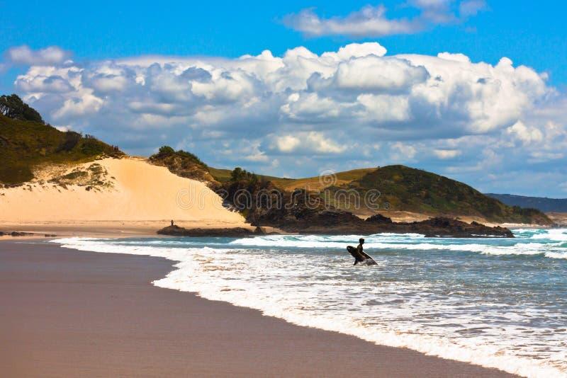 Paraíso de las personas que practica surf fotos de archivo