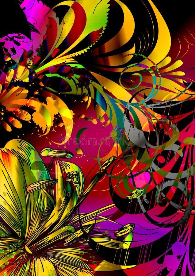 Paraíso de los pájaros ilustración del vector