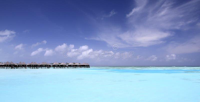 Paraíso em maldives fotografia de stock