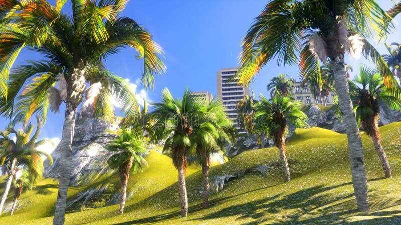 Paraíso havaiano ilustração royalty free