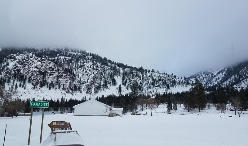 Paraíso Montana foto de archivo libre de regalías