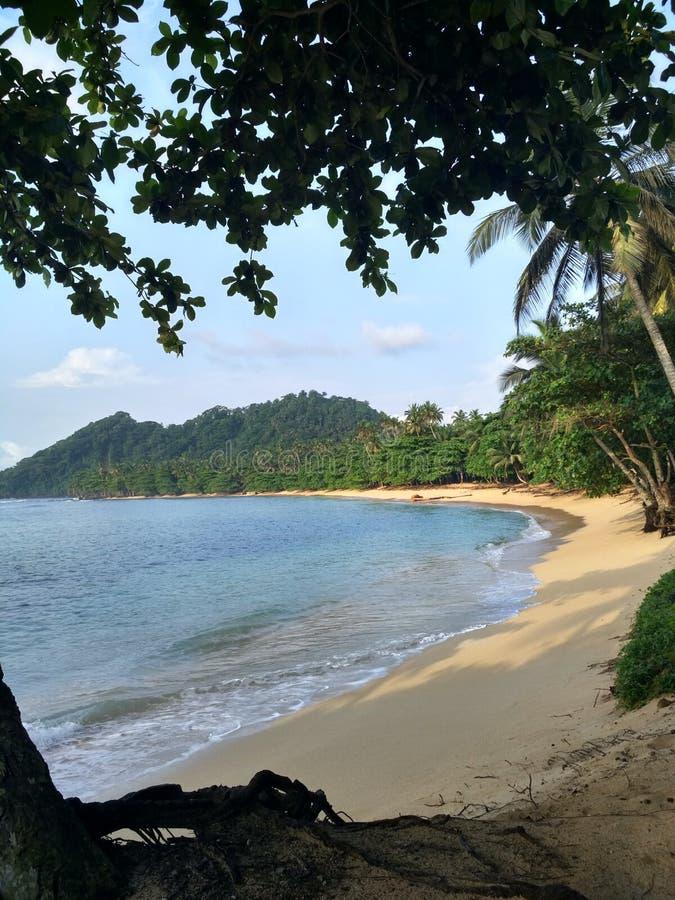 Paraíso no Sao Tomé fotografia de stock
