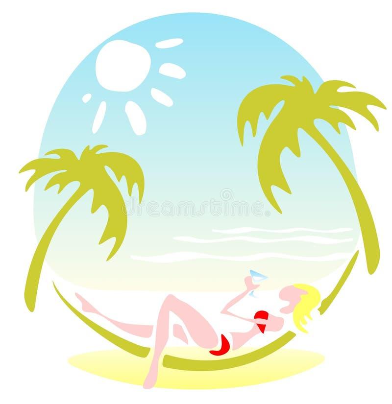 Paraíso tropical ilustración del vector