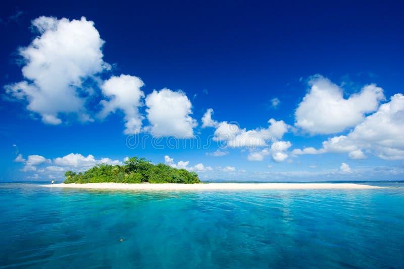 Paraíso tropical das férias do console foto de stock
