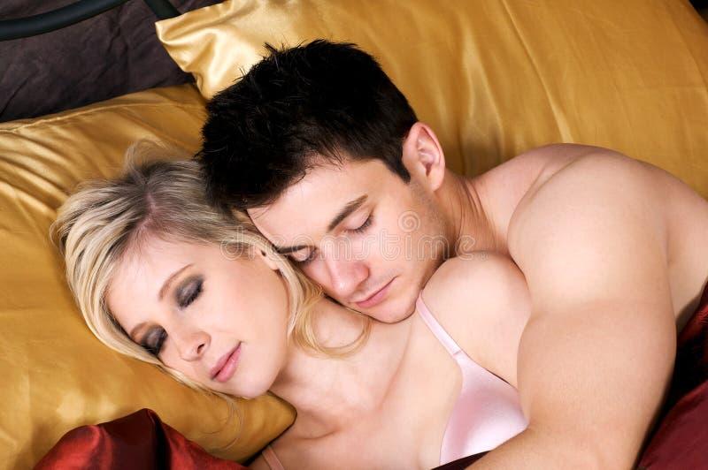 para łóżkowy cukierki zdjęcia royalty free