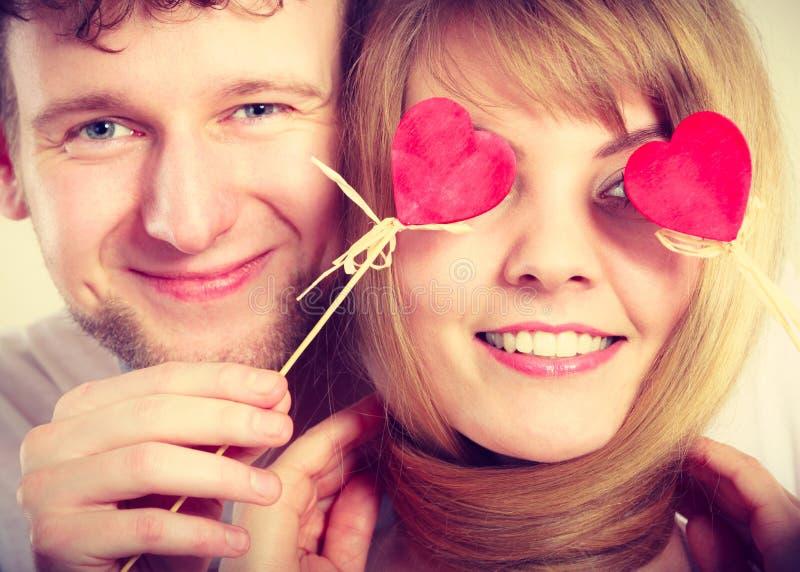 Para ślepiąca ich miłością zdjęcie royalty free