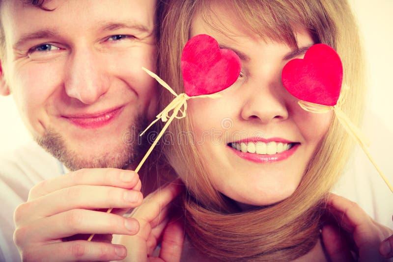 Para ślepiąca ich miłością zdjęcie stock