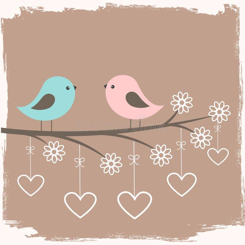 Para śliczni ptaki ilustracja wektor