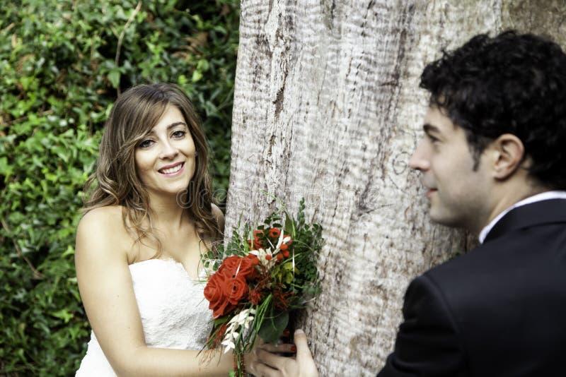 Para ślubu para obraz stock