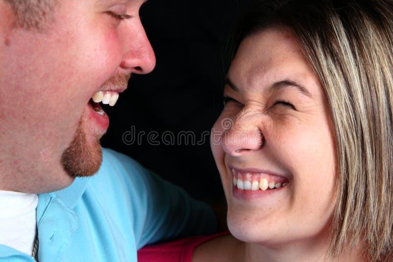 para śmieje się zdjęcie royalty free