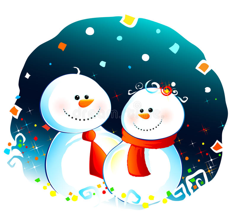 para śnieg ilustracji