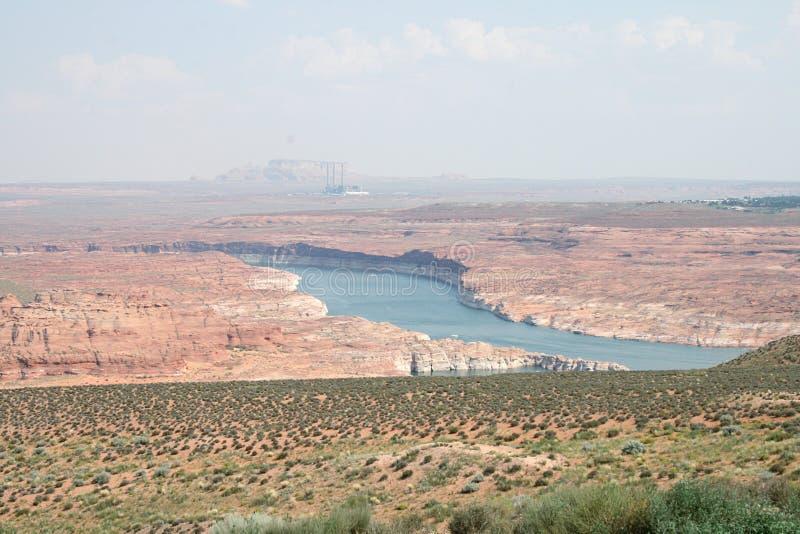 Para ahorrar la naturaleza Lago Powell imagen de archivo libre de regalías