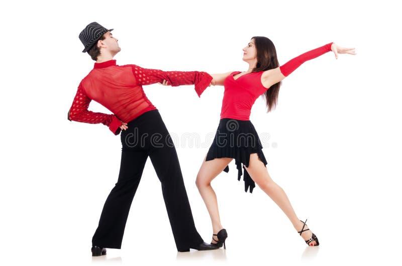 Para av dansare royaltyfri bild