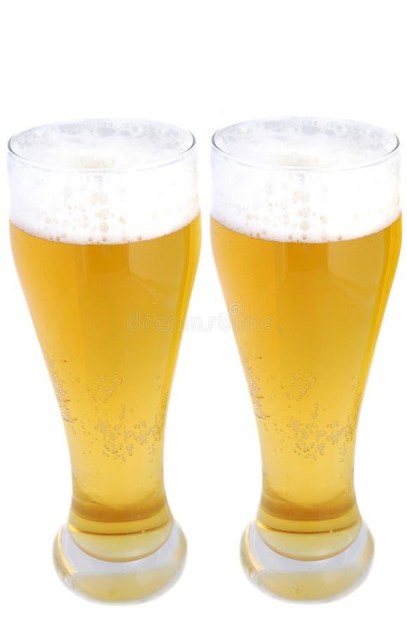 Para av halva liter för öl royaltyfria bilder