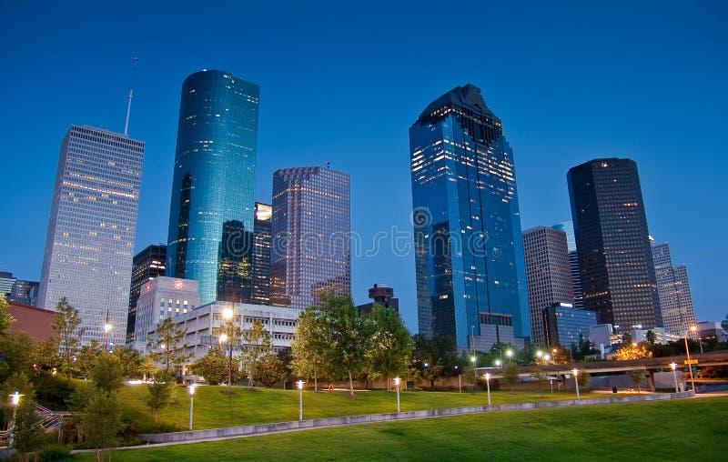 Para baixo cidade Houston foto de stock royalty free
