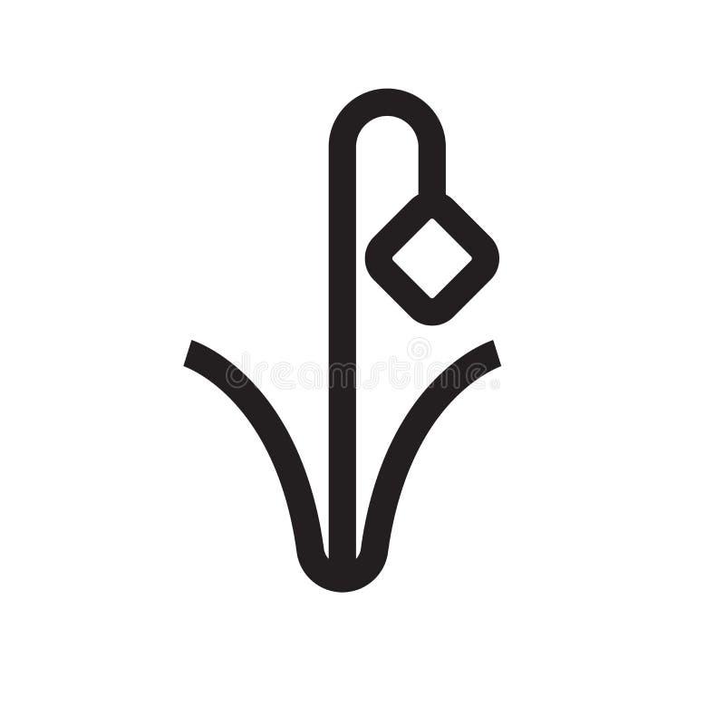 Para baixo sinal e símbolo do vetor do ícone da seta isolados no backgro branco ilustração do vetor