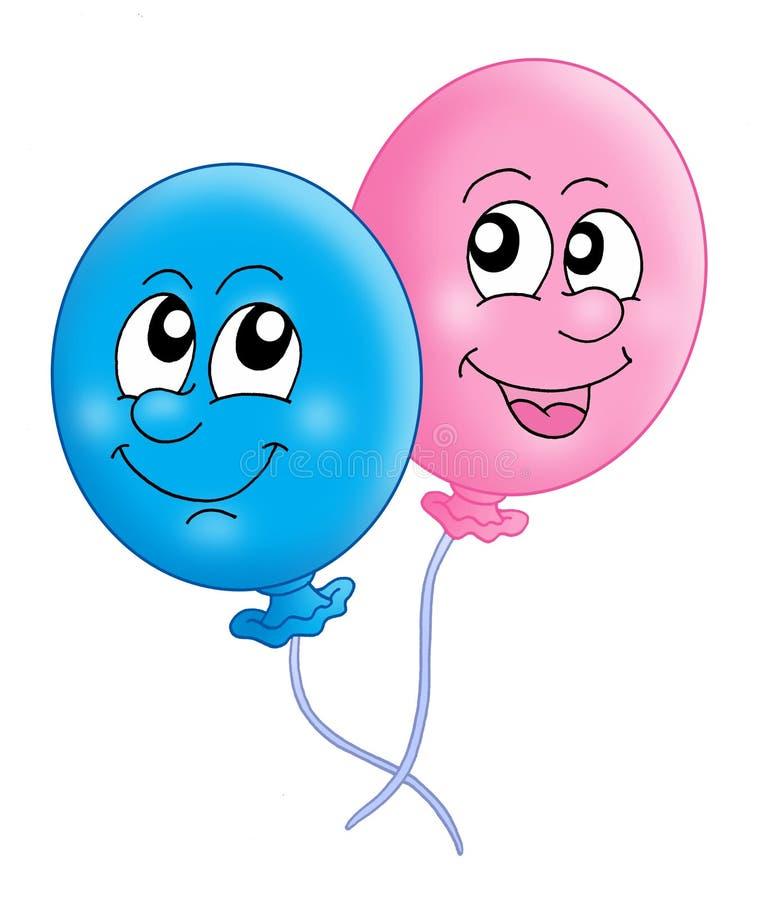 para balonem royalty ilustracja