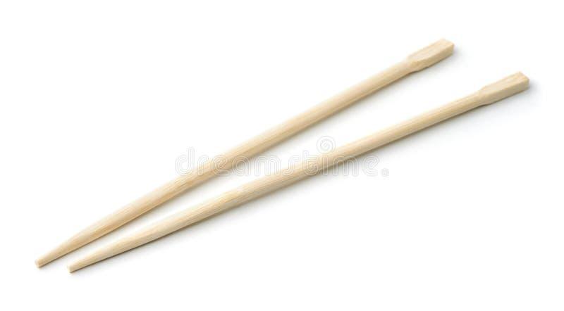 Para bambusowi rozporządzalni chopsticks zdjęcia stock