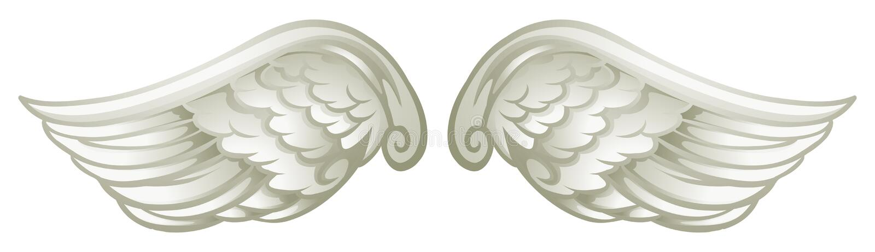 Download Para biali skrzydła ilustracja wektor. Ilustracja złożonej z skrzydła - 57657696