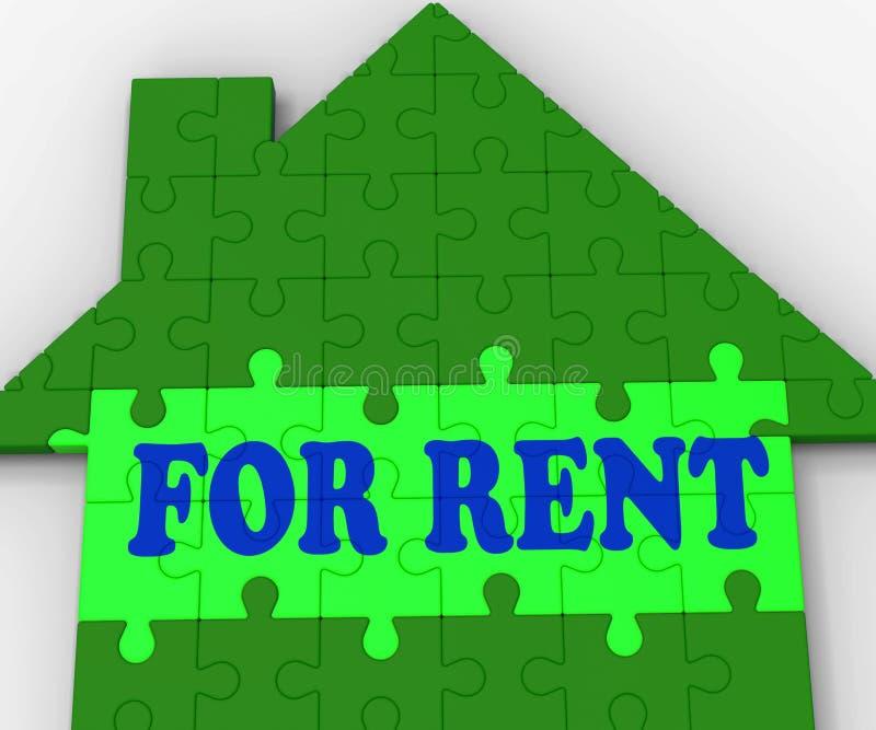 Para a casa de aluguel mostra agentes imobiliários alugado ilustração royalty free