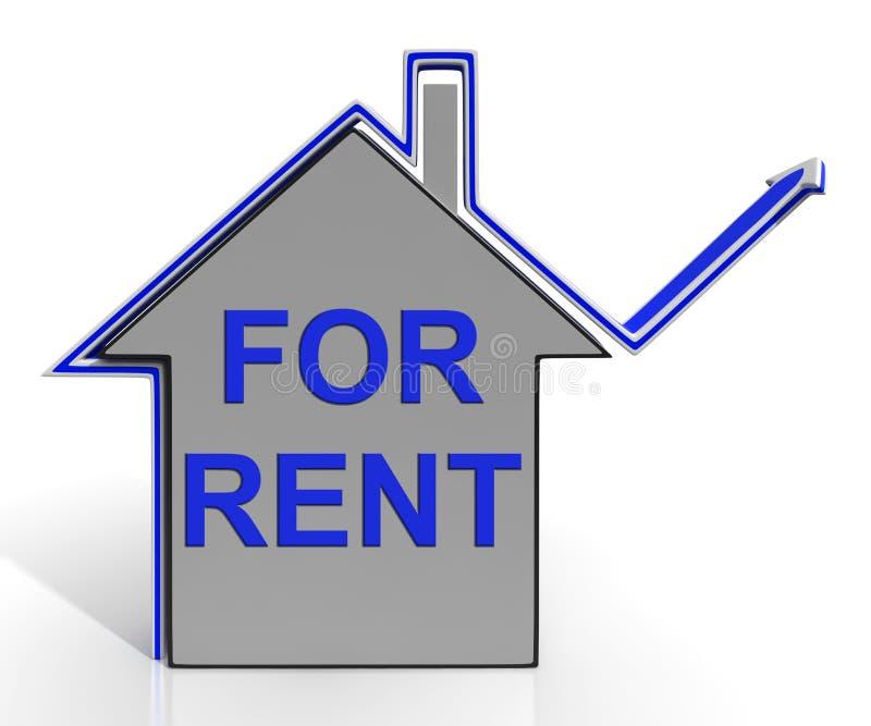 Para a casa de aluguel mostra o proprietário Leasing Property ilustração do vetor