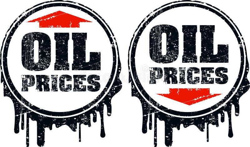 Para ceny ropy grunge projekt w górę i na dół z strzała, pokazuje ilustracja wektor